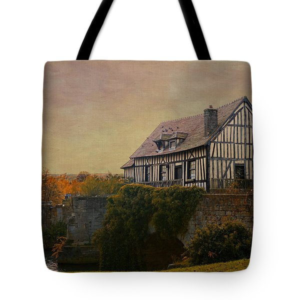 Old Mill On The Broken Bridge At Vernon Tote Bag by Jean-Pierre Ducondi