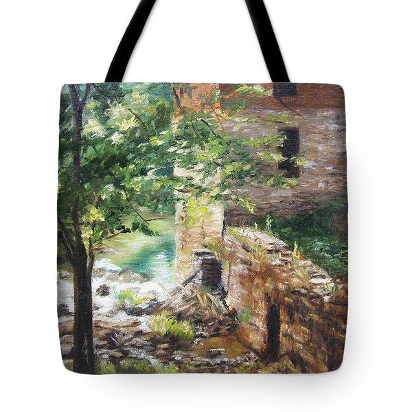 Old Mill Stream I Tote Bag by Lori Brackett