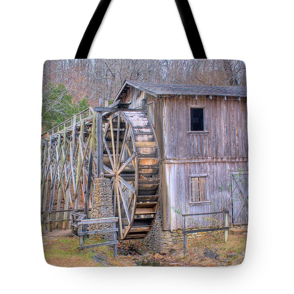 Old Mill Water Wheel And Sluce Tote Bag by Douglas Barnett
