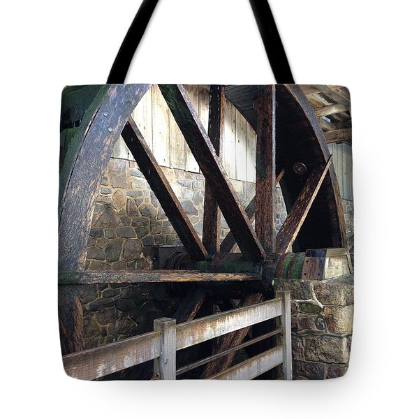 Tote Bag featuring the photograph Old Mill Water Wheel by Jeannie Rhode