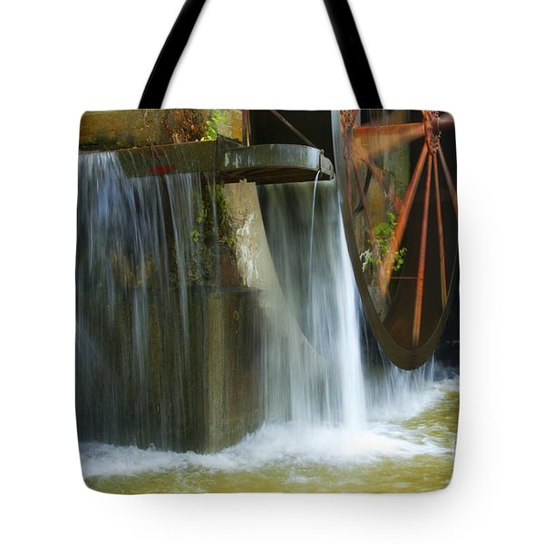 Old Mill Water Wheel Tote Bag by Paul W Faust -  Impressions of Light