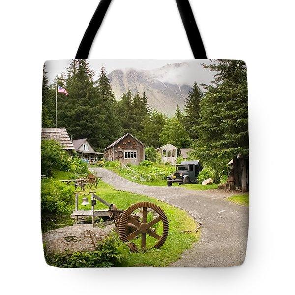 Old Mining Alaskan Town Tote Bag
