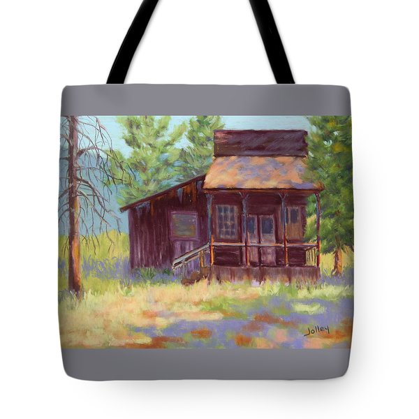Tote Bag featuring the painting Old Mining Store by Nancy Jolley
