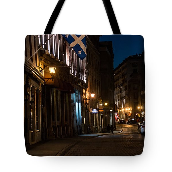 Old Montreal At Night Tote Bag