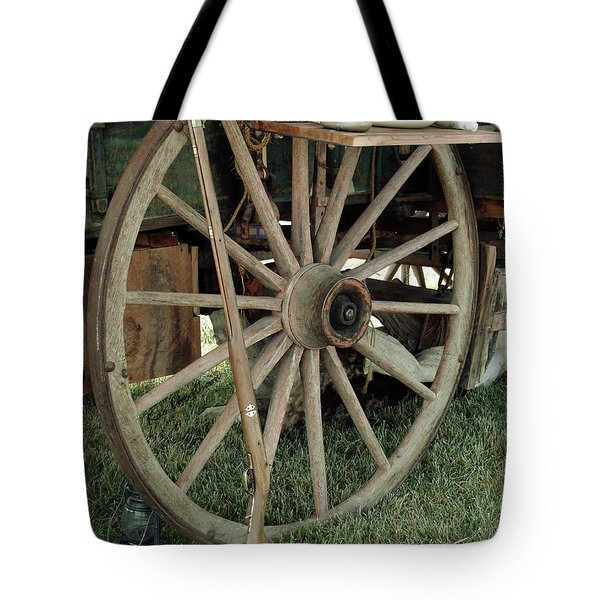 Old Morning Scene Tote Bag by Kae Cheatham