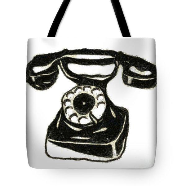 Old Phone Tote Bag by Michal Boubin