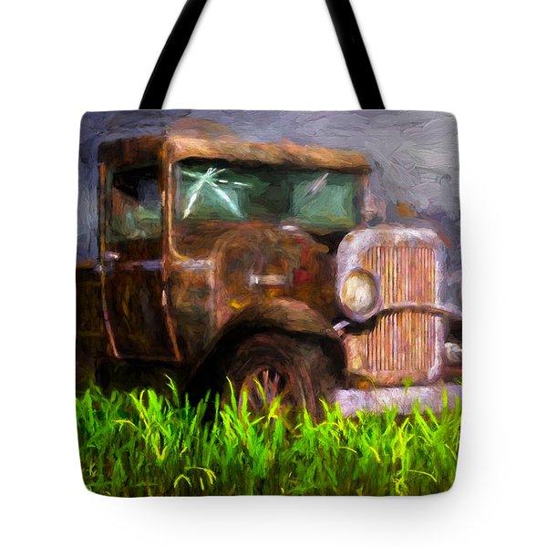 Old Pickup Tote Bag by Bob Orsillo