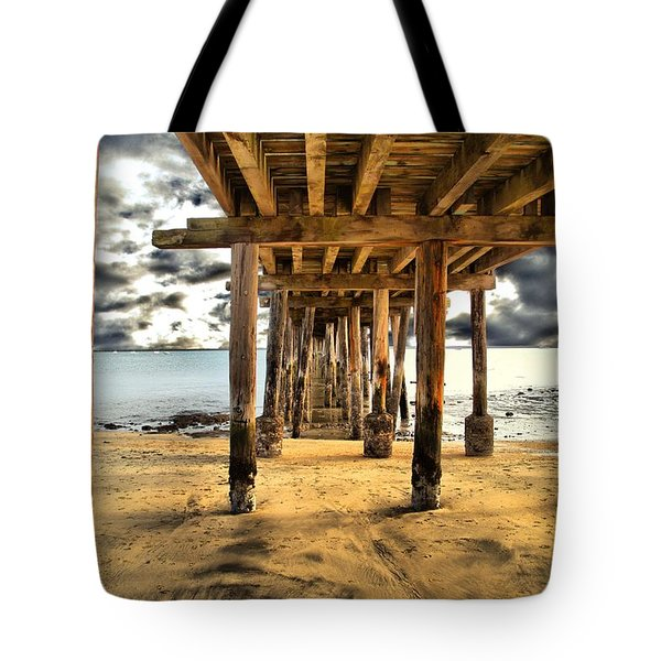 Old Pillar Point Pier Tote Bag