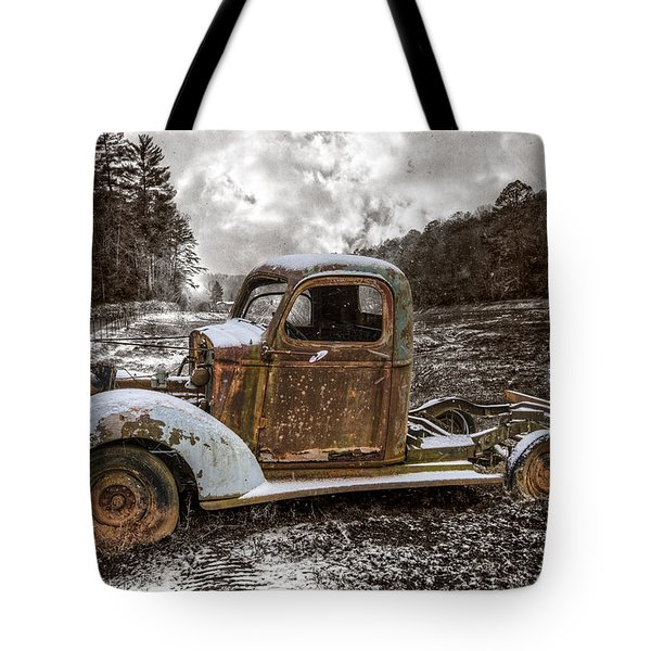 Old Plymouth Tote Bag by Debra and Dave Vanderlaan