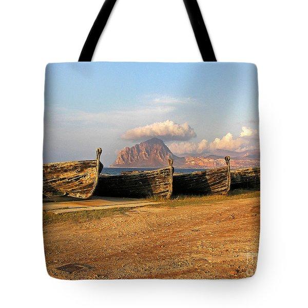 Aquatic Dream Of Sicily Tote Bag