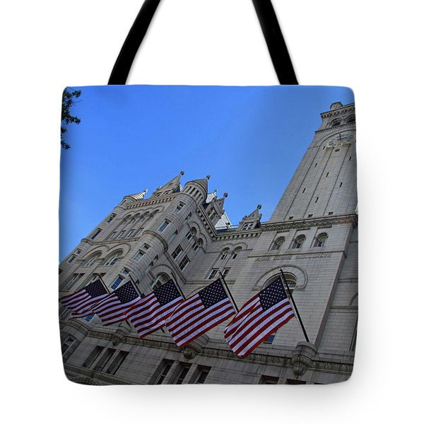 The Old Post Office Or Trump Tower Tote Bag by Cora Wandel