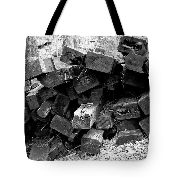 Tote Bag featuring the photograph Old Railroad Ties by Kristen Fox