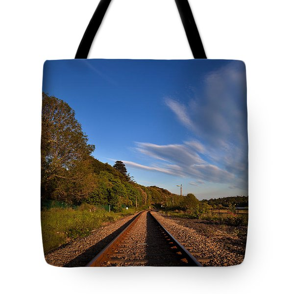 Old Railway Tracks, County Waterford Tote Bag