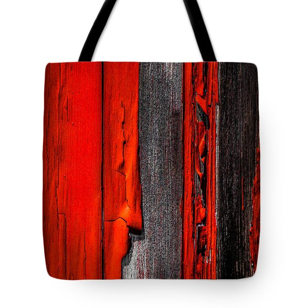 Old Red Barn Four Tote Bag by Bob Orsillo