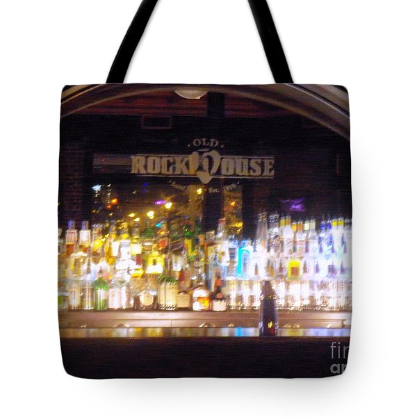 Tote Bag featuring the photograph Old Rock House Bar by Kelly Awad