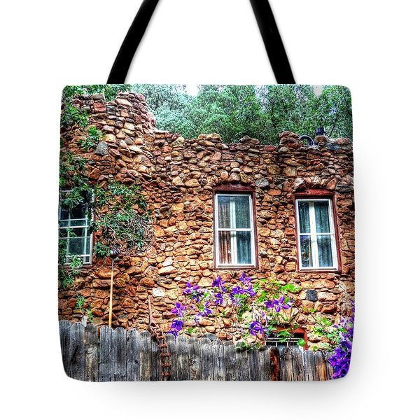 Tote Bag featuring the photograph Old Rock House In Williams Canyon by Lanita Williams