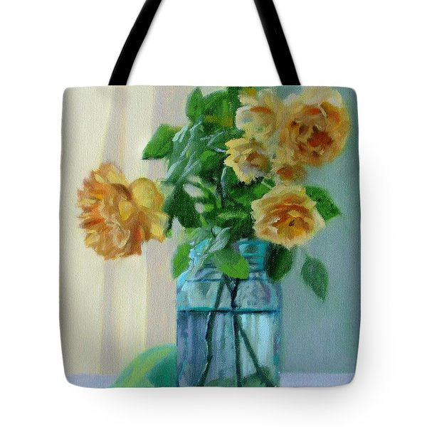 Old Roses Tote Bag by Bonnie Mason