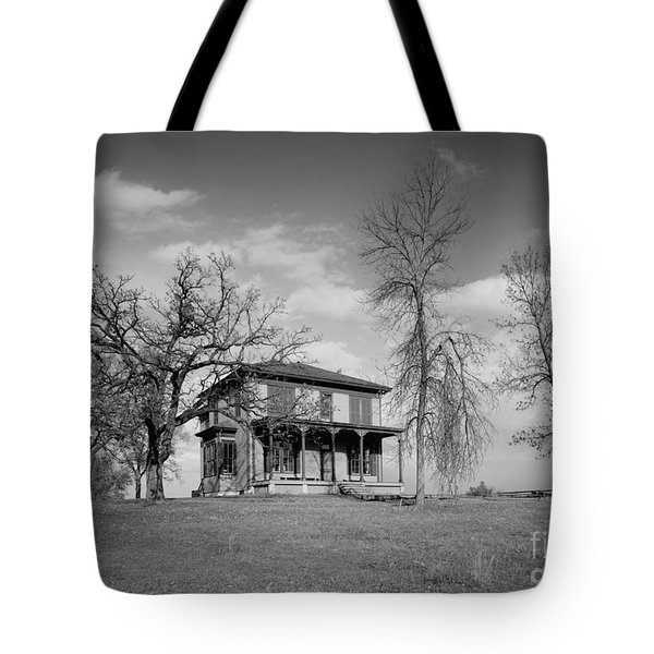 Old Rustic House On A Hill Tote Bag