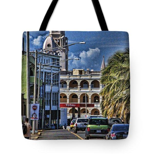 Old San Juan Cityscape Tote Bag by Daniel Sheldon