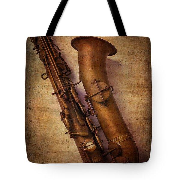 Old Sax Tote Bag