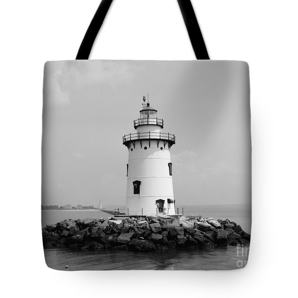 Old Saybrook Connecticut Lighthouse Tote Bag