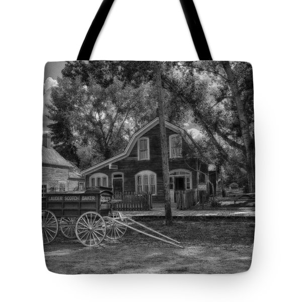 Old Scene-baker Wagon Tote Bag by Darcy Michaelchuk