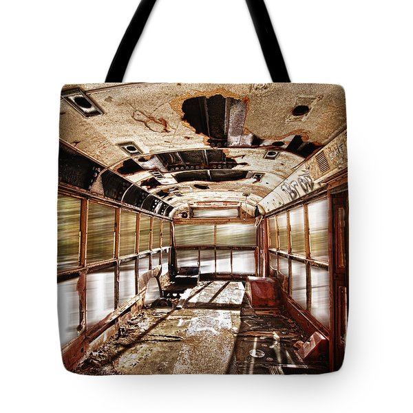 Old School Bus In Motion Hdr Tote Bag by James BO  Insogna