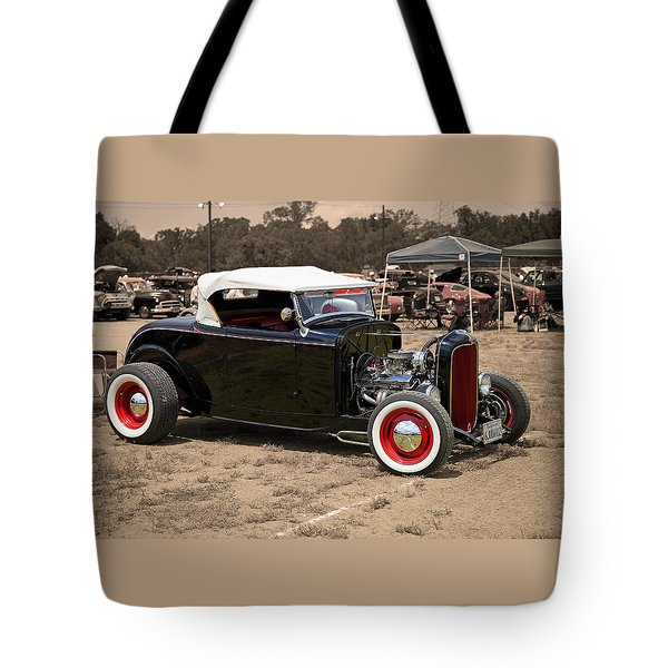 Old School Hot Rod Tote Bag