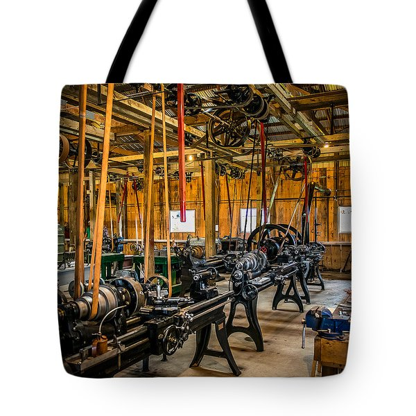 Old School Machine Shop Tote Bag