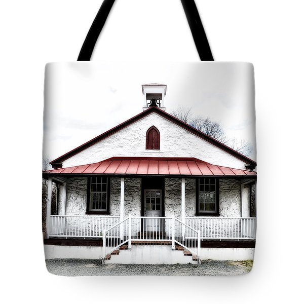 Old Schoolhouse Chester Springs Tote Bag by Bill Cannon