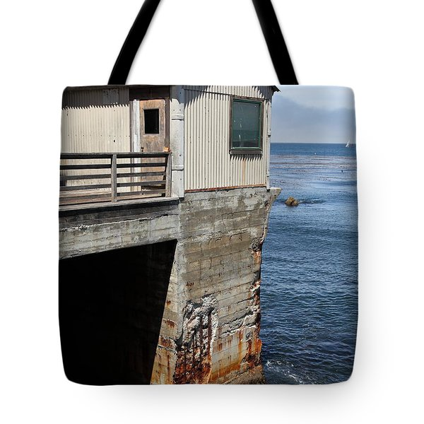 Old Shack Overlooking The Monterey Bay In Monterey Cannery Row California 5d25062 Tote Bag