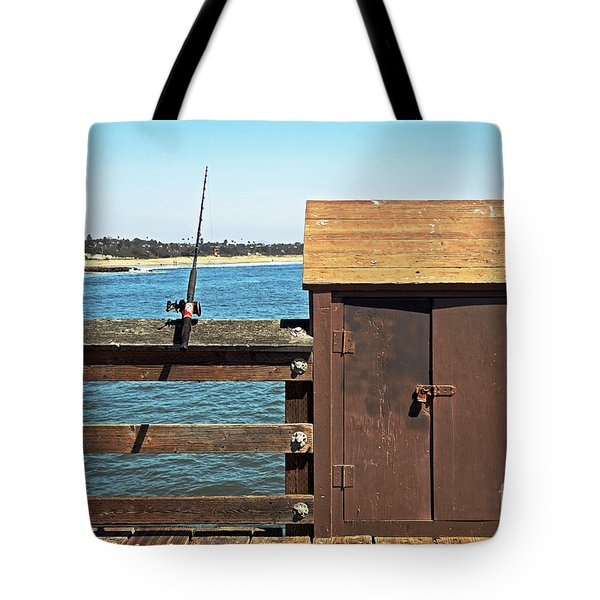 Tote Bag featuring the photograph Old Shed On Ventura Pier by Susan Wiedmann