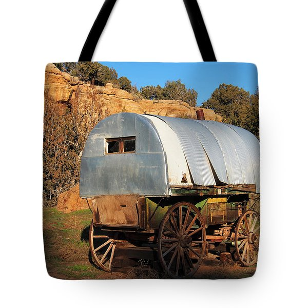 Old Sheepherder's Wagon Tote Bag