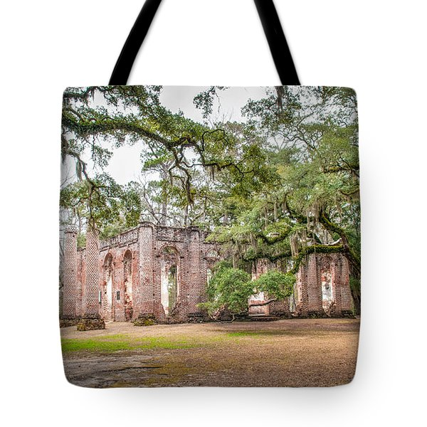 Old Sheldon Church - Tree Canopy Tote Bag
