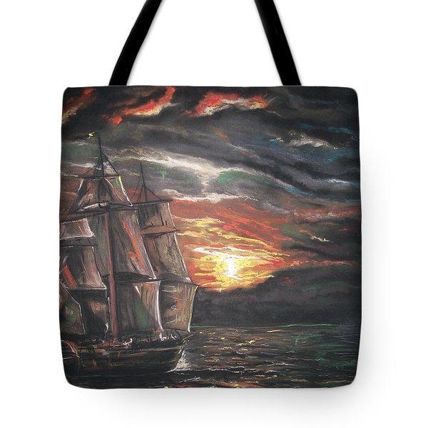Old Ship Of The Sea Tote Bag by Peter Suhocke