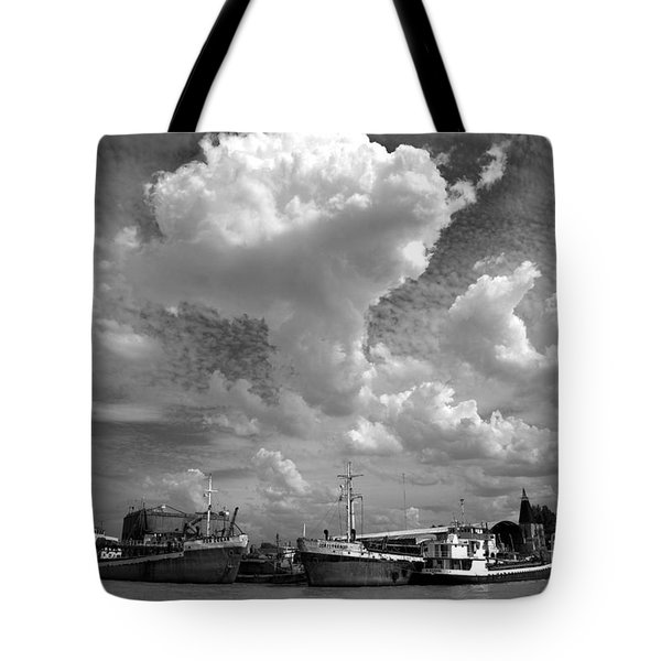 Tote Bag featuring the photograph Old Ships by Bernardo Galmarini