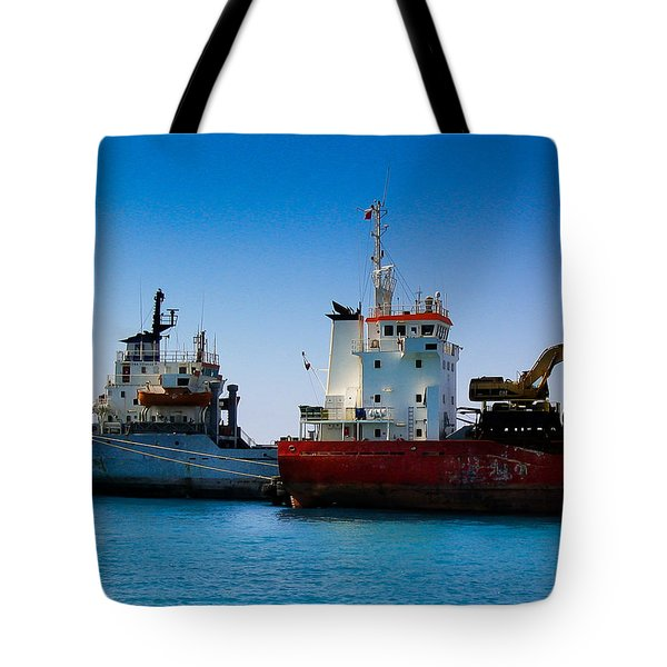 Tote Bag featuring the photograph Old Ships by Kevin Desrosiers