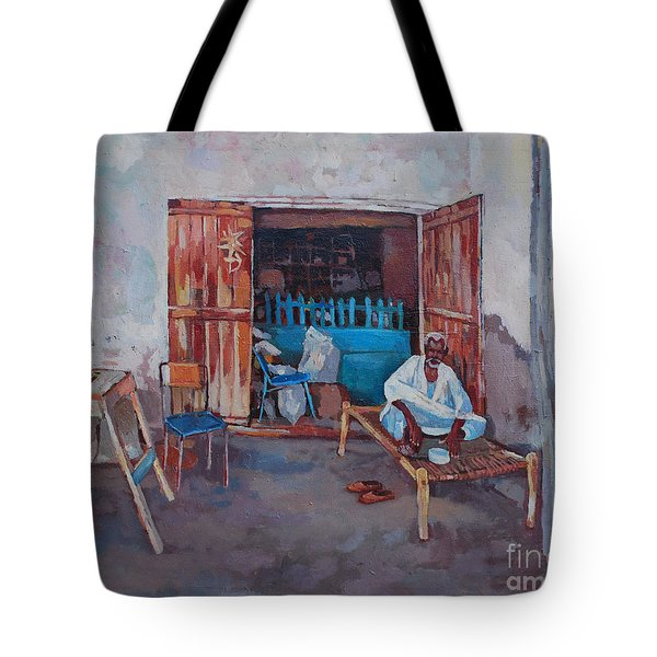 Old Shop Suakin Tote Bag by Mohamed Fadul