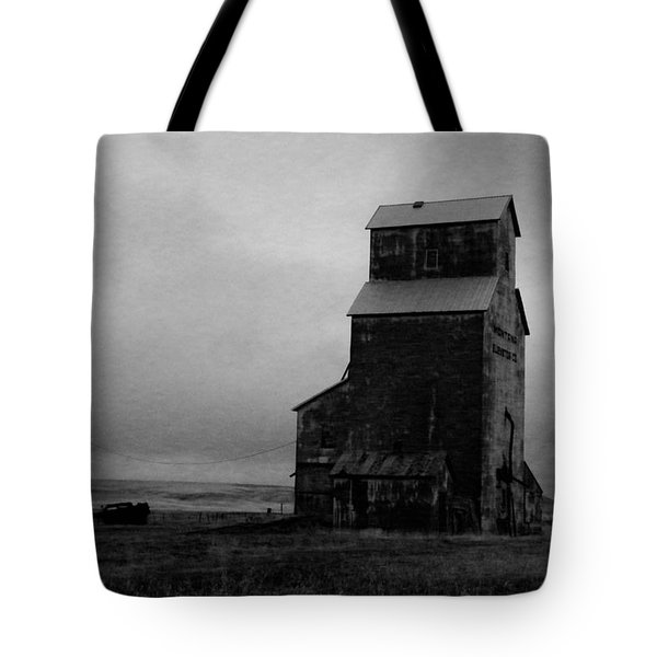 Old Silo In Black And White Tote Bag