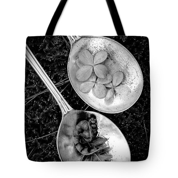 Old Silver Spoons Tote Bag by Edward Fielding