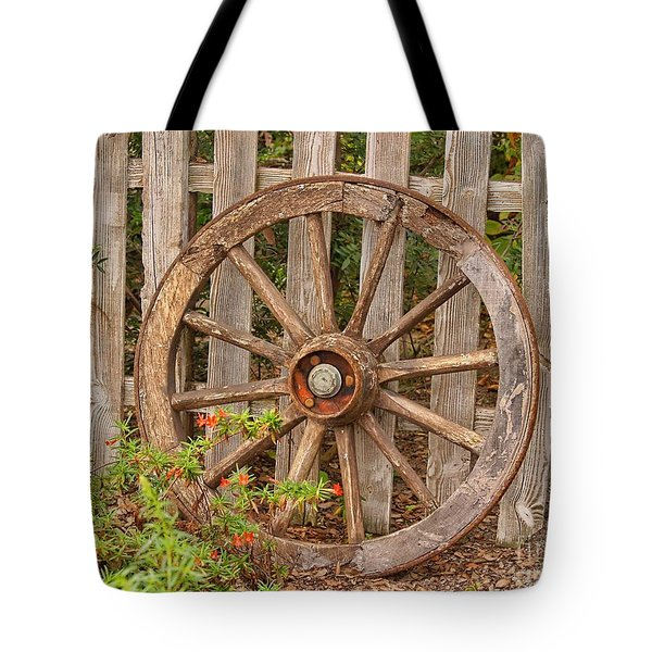 Old Spare Wheel Tote Bag