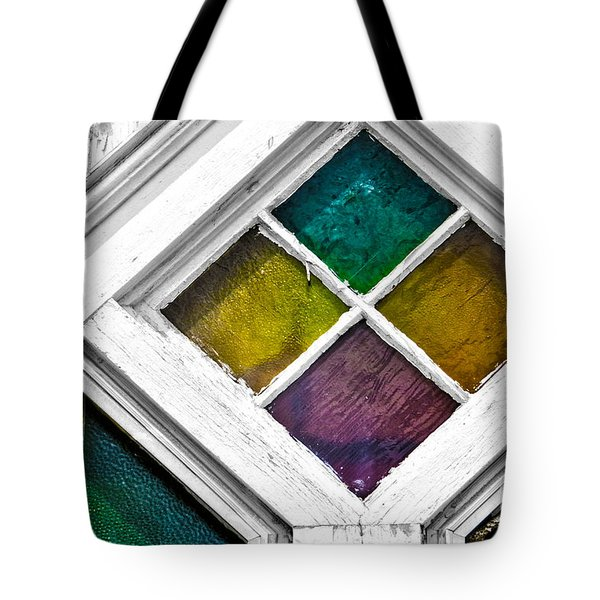 Old Stained Glass Windows Tote Bag