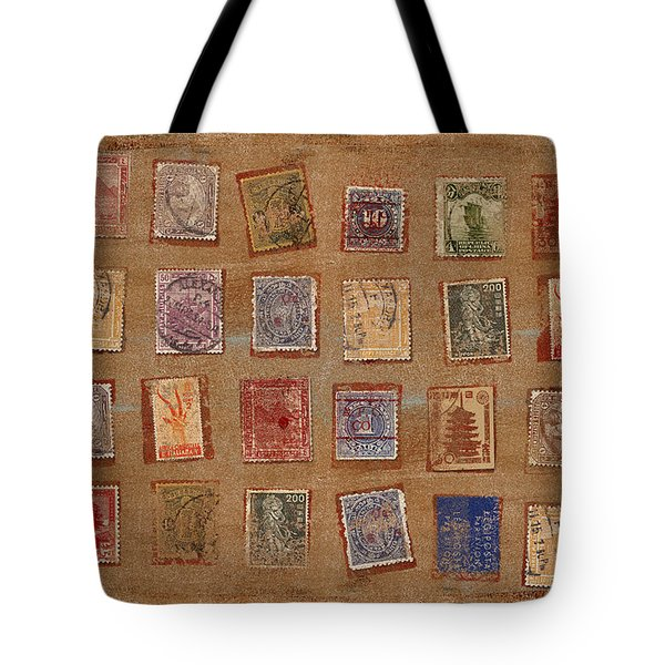 Old Stamp Collection Tote Bag