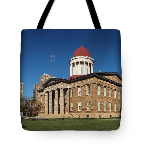 Old State Capital Springfield Illinois Tote Bag