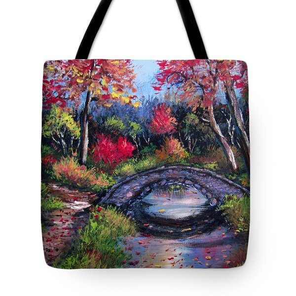 Old Stone Bridge Tote Bag by Megan Walsh