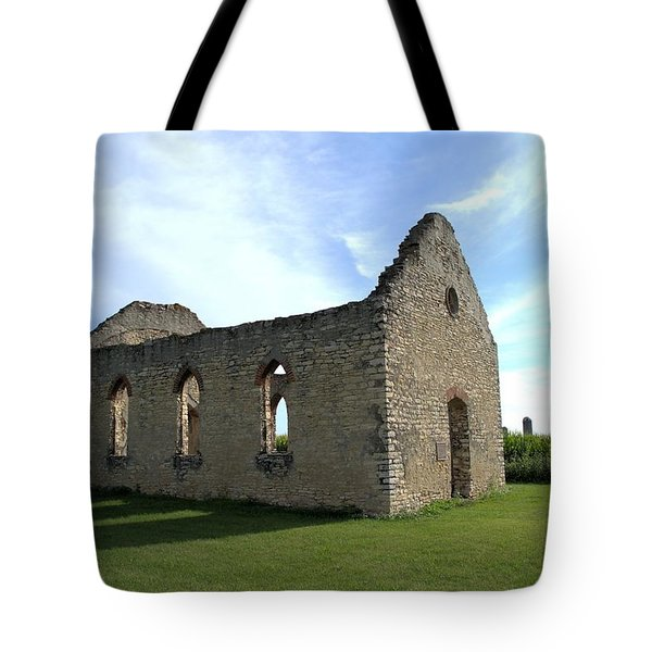 Old Stone Church 2 Tote Bag by Bonfire Photography