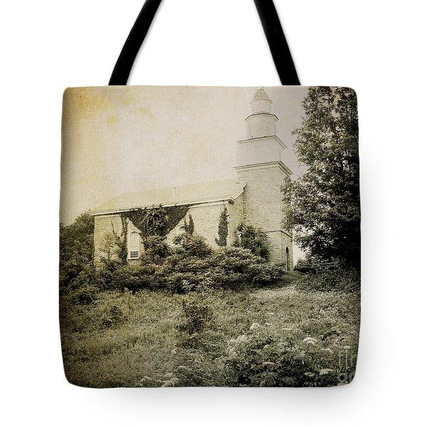 Old Stone Church In Rhinebeck Tote Bag