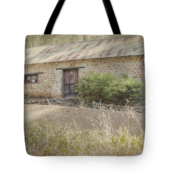 Tote Bag featuring the photograph Old Stone Cottage by Elaine Teague