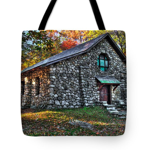 Old Stone Lodge Tote Bag