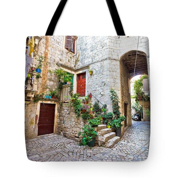 Old Stone Street Of Trogir Tote Bag